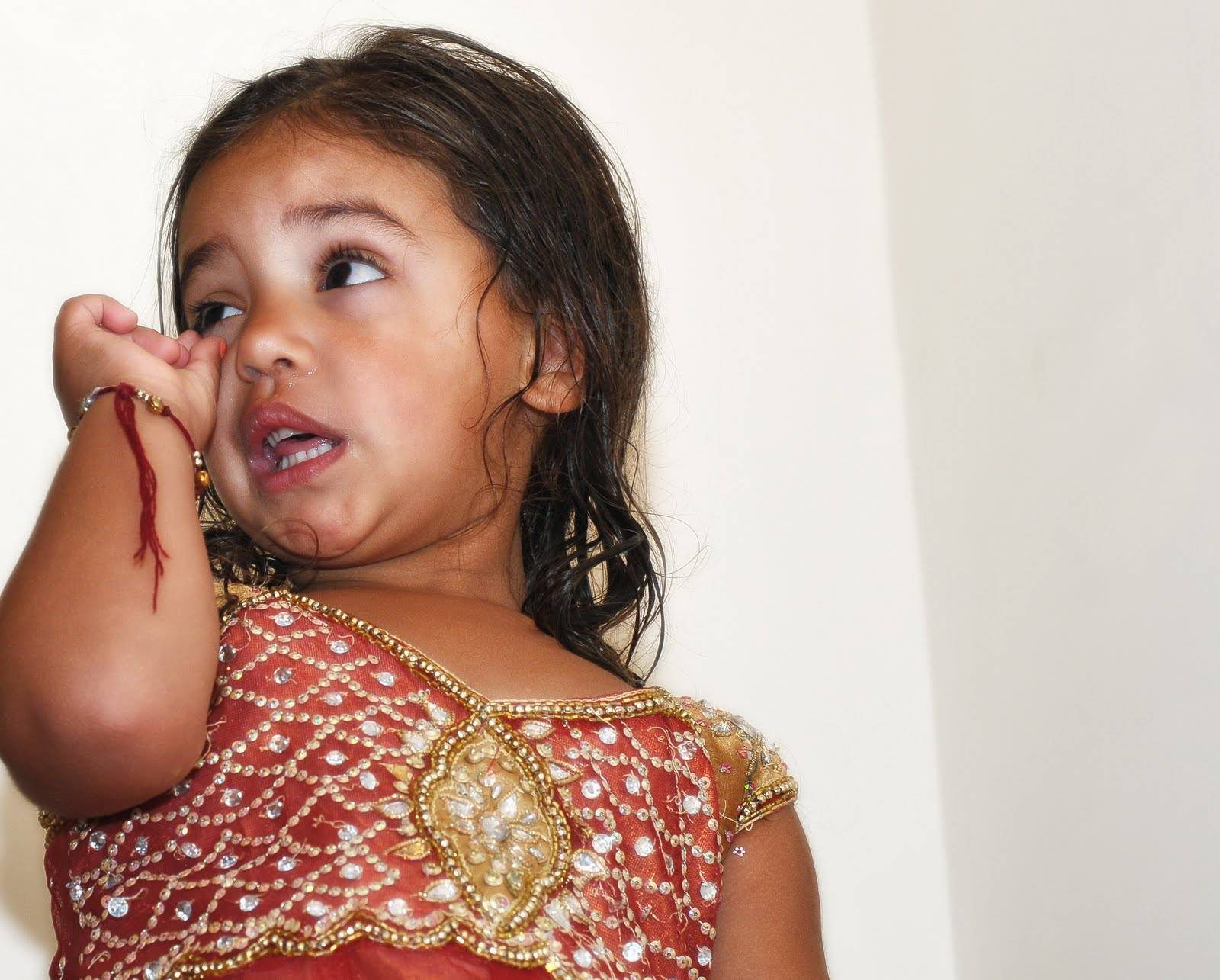 Indian Girl on the Stairs