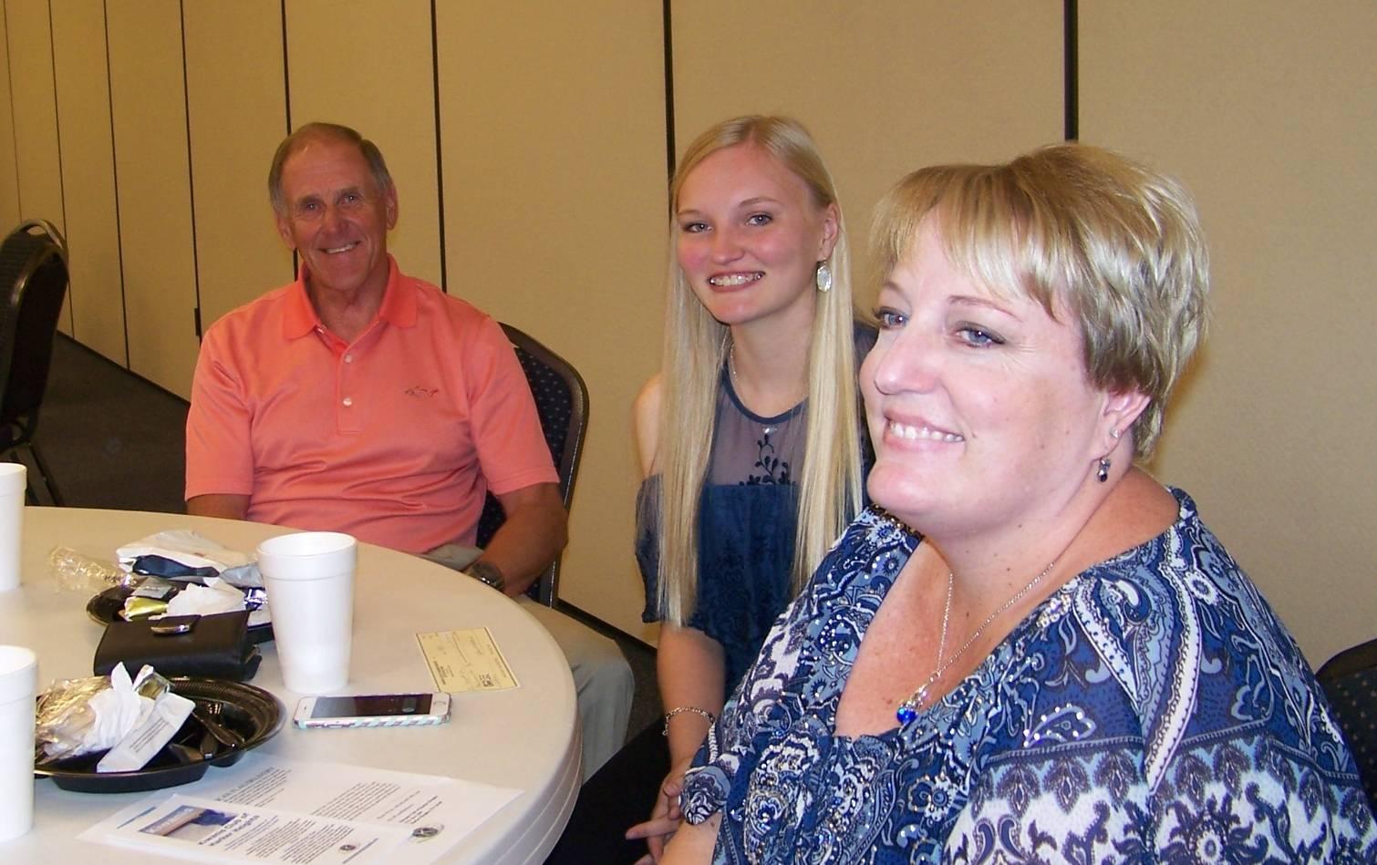 Garry McNiesh, Gwyneth & Brooke Udy