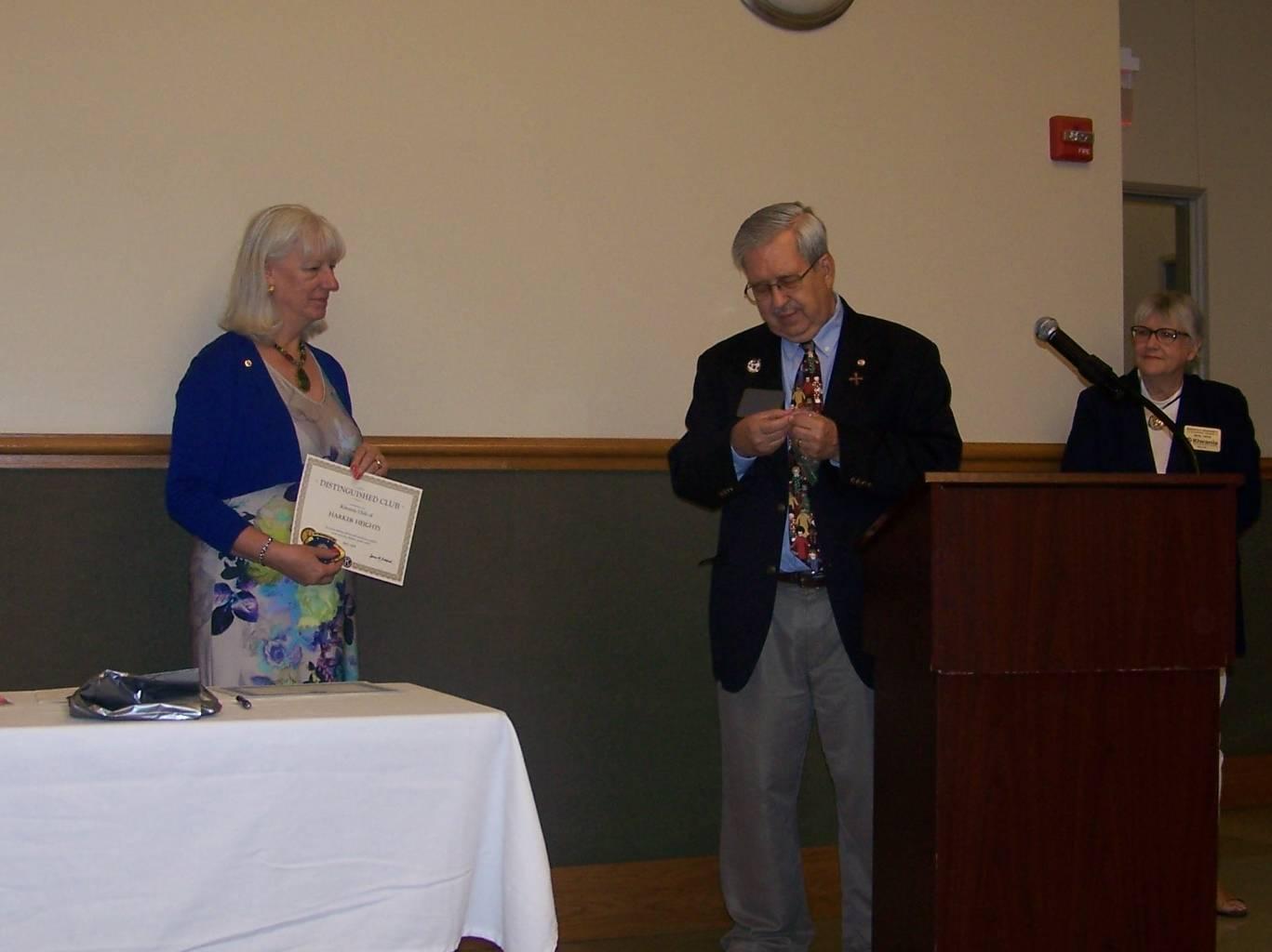 2017-2018 Distinguished Kiwanis Club Award