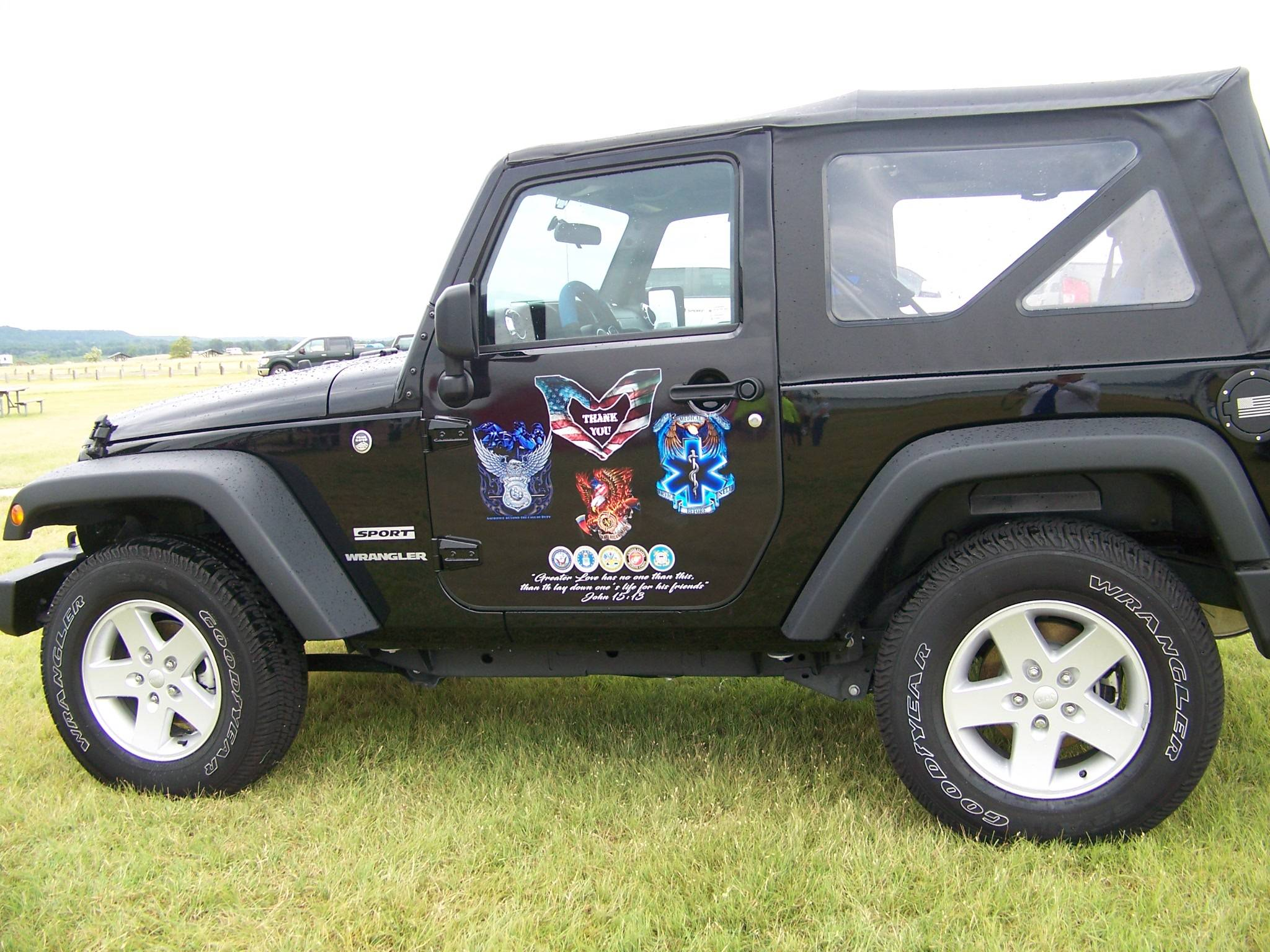 Decorated Jeep at the event