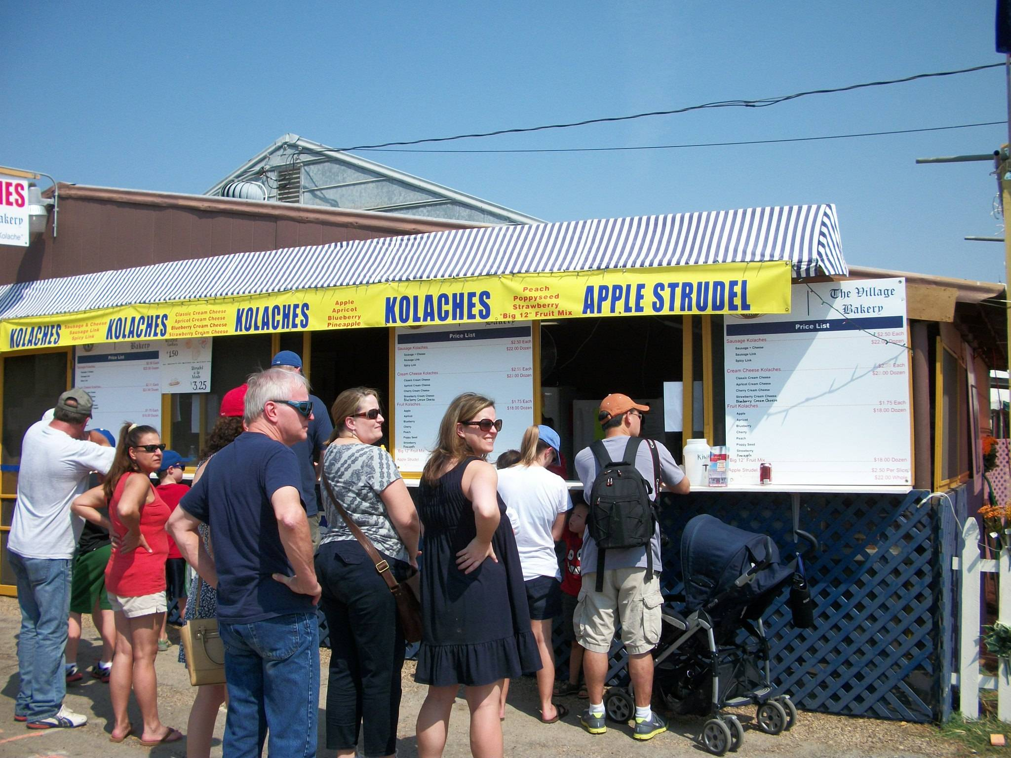 Lots of customers to the Kolache Booth