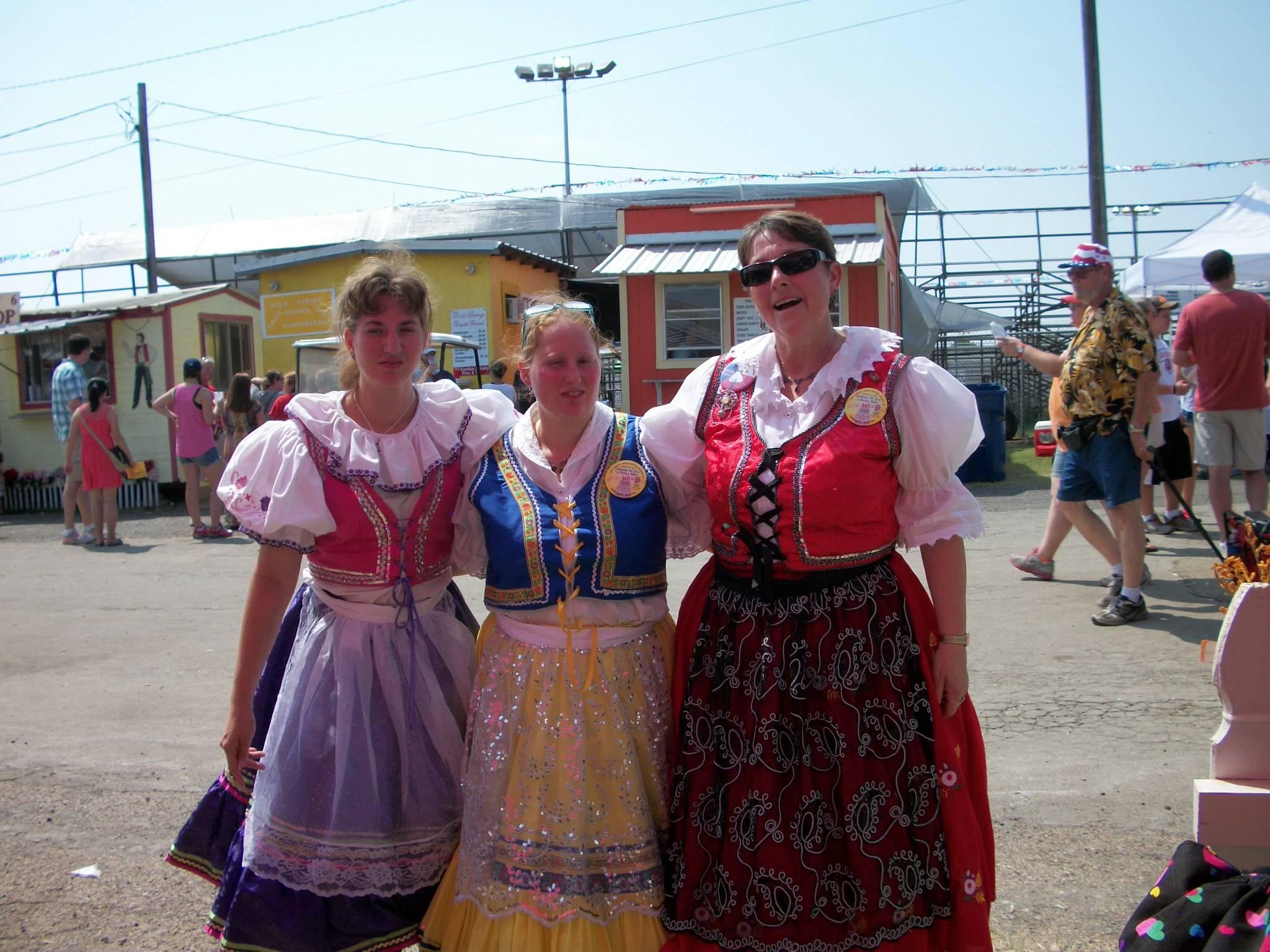 Czech costumes at West Fest