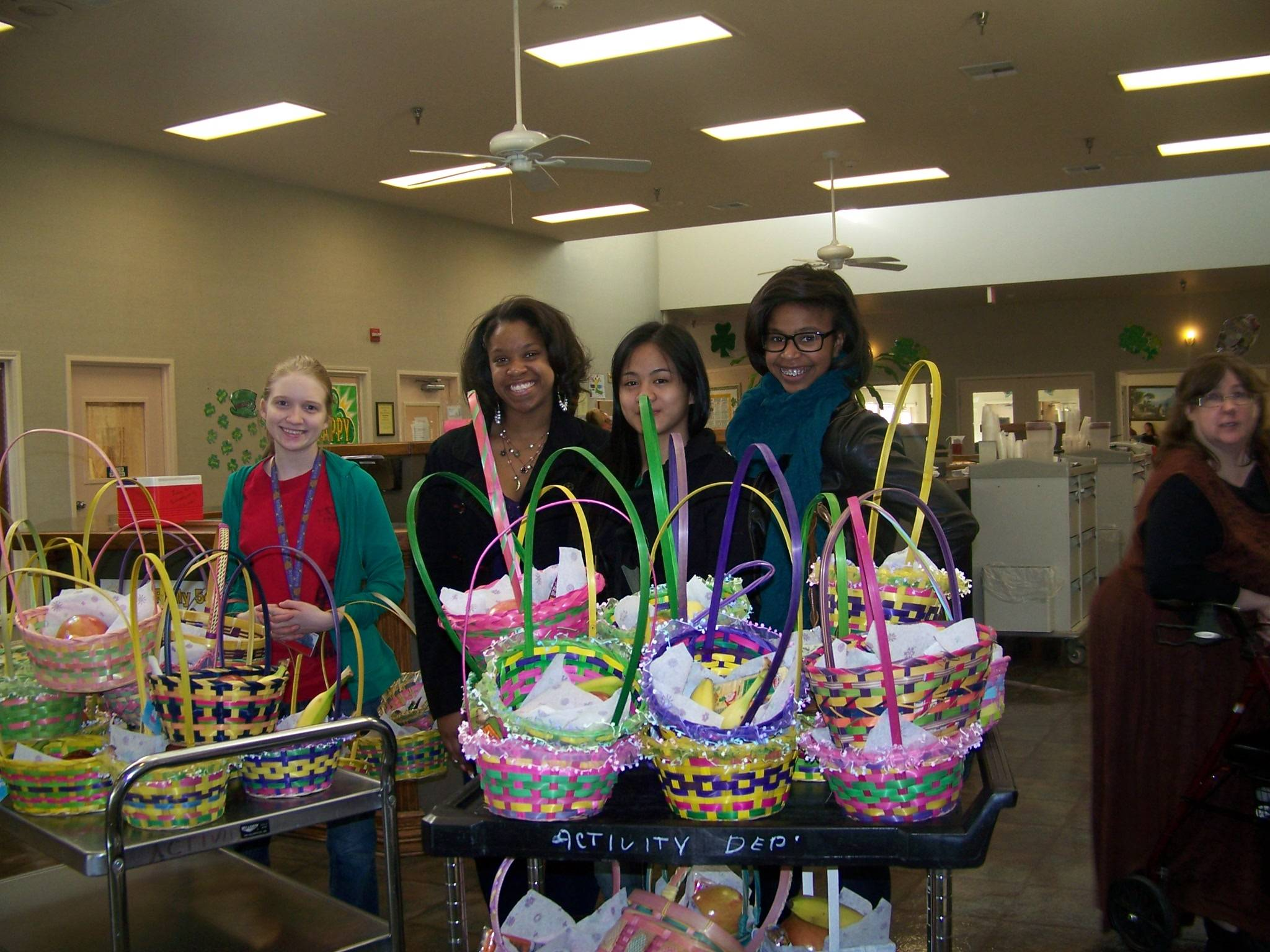 Key Club at Easter Basket delivery