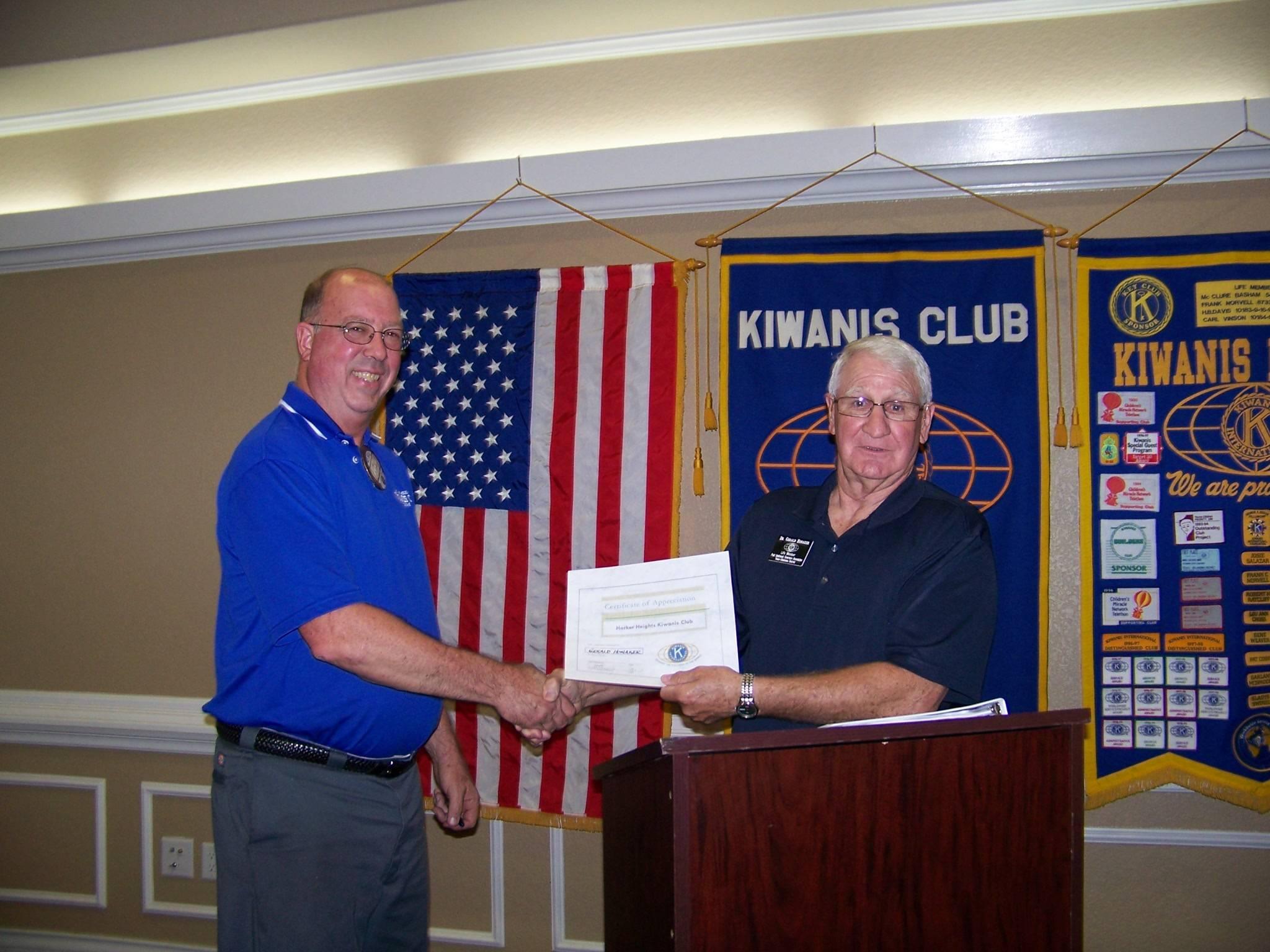 Kiwanis member Gary Honaker