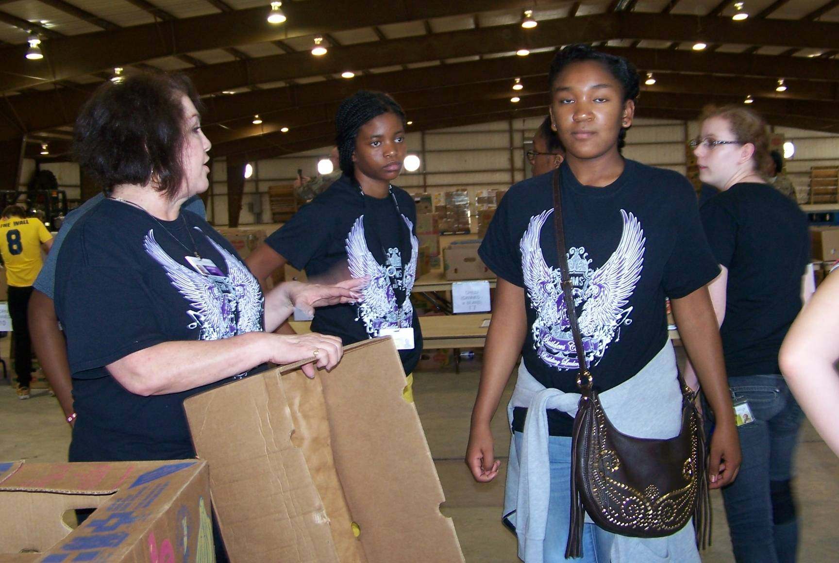 Back hard at work at the Killeen Food for Families