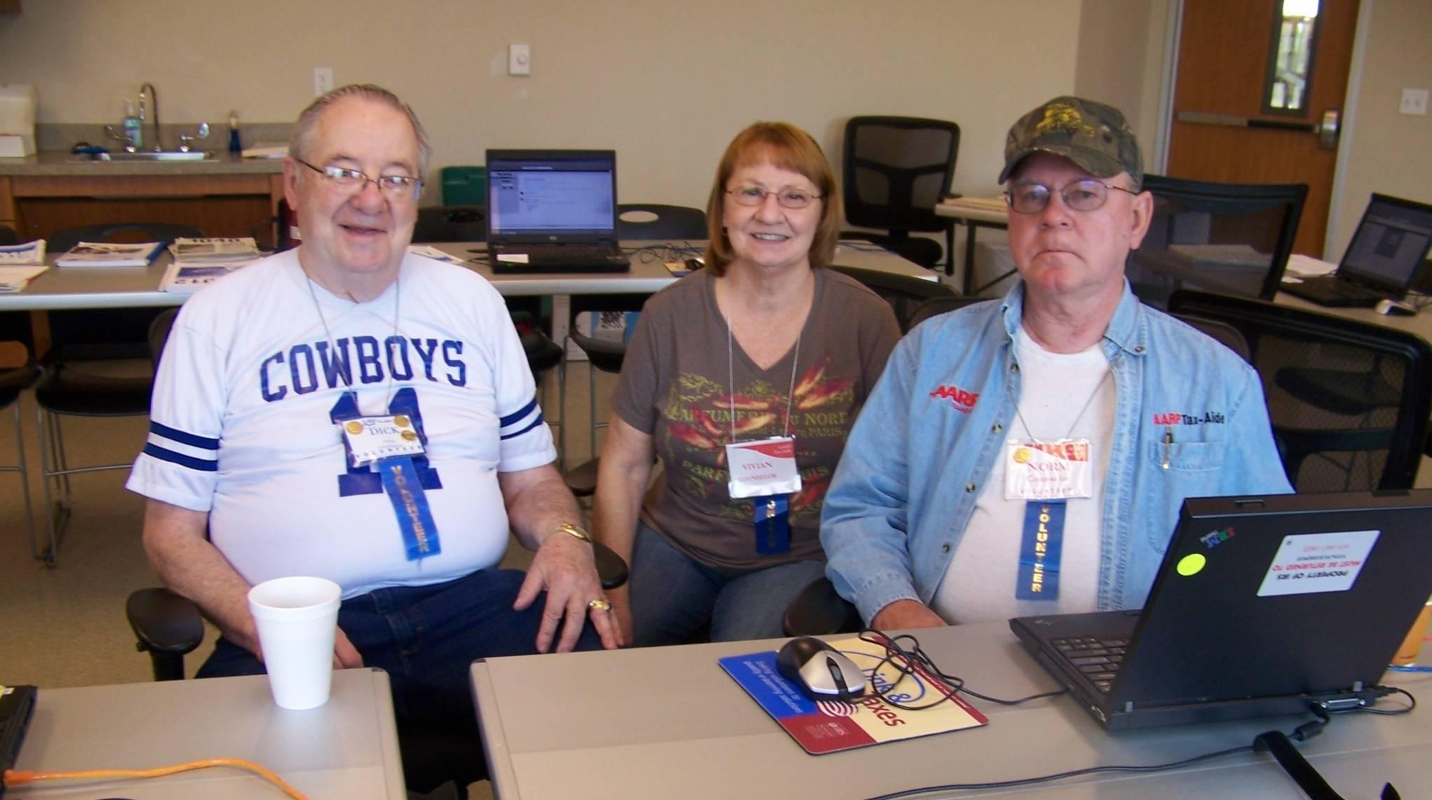 Dick Dinwiddie, Vivian Marschik, & Norm Dunbar