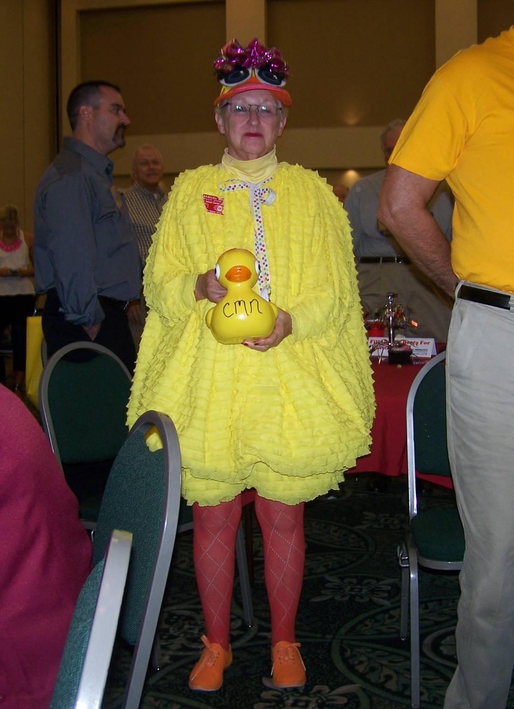 Duck lady mascot