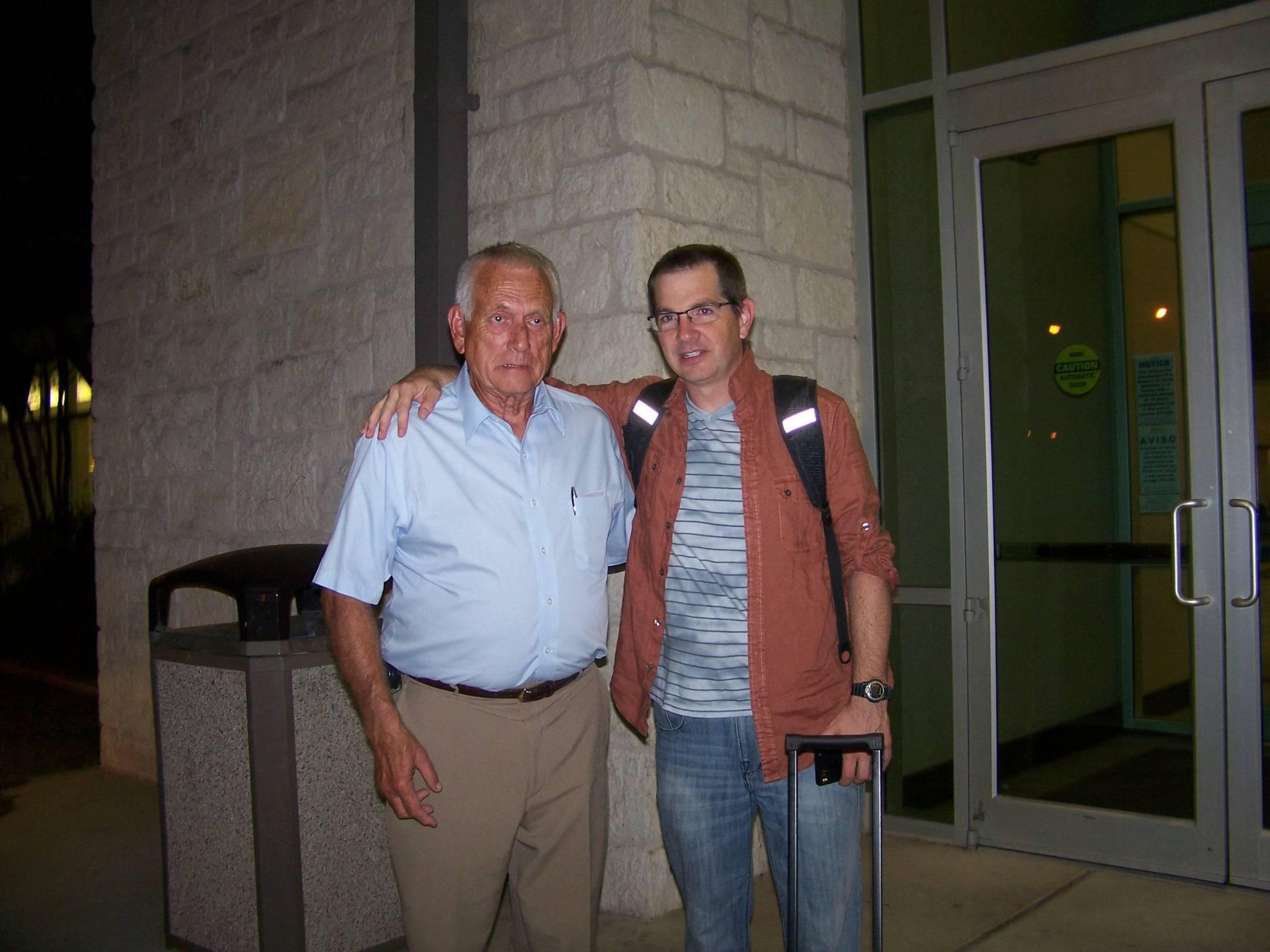 Bill Herron with comedian John Branyan