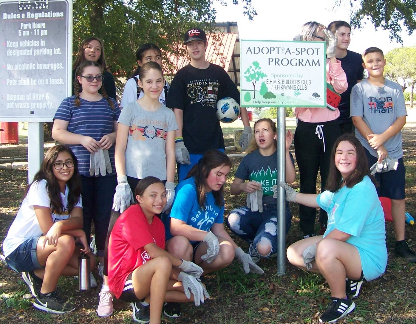 Adopt-a-Spot at the Harker Heights Community Park
