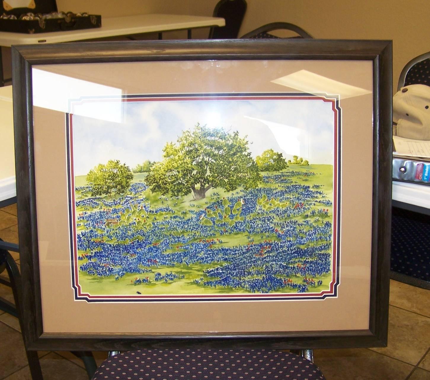 Original Joe Friddle Painting framed