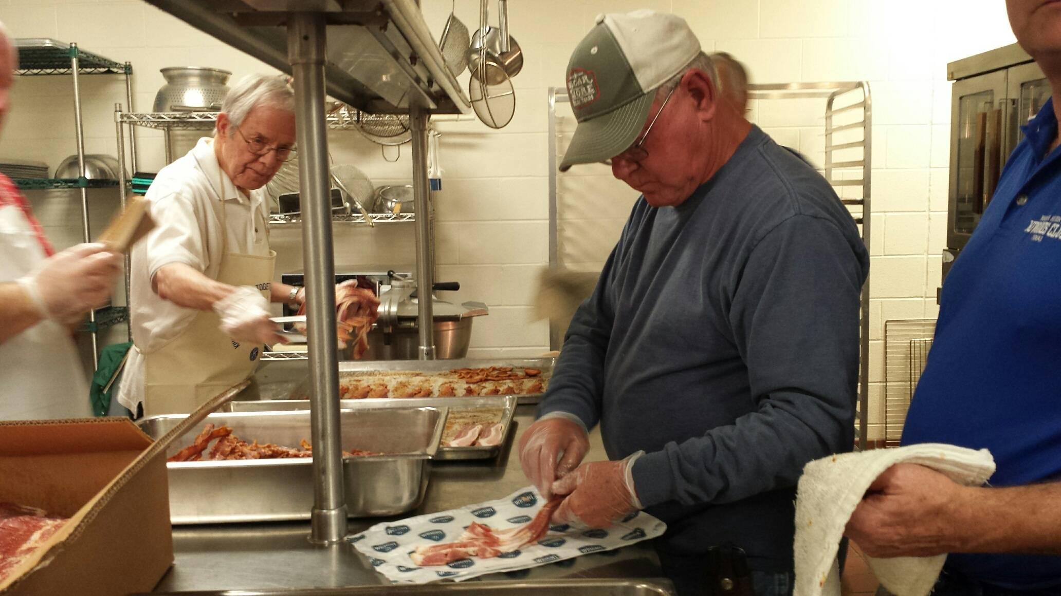 Norm & Bob Cooking bacon