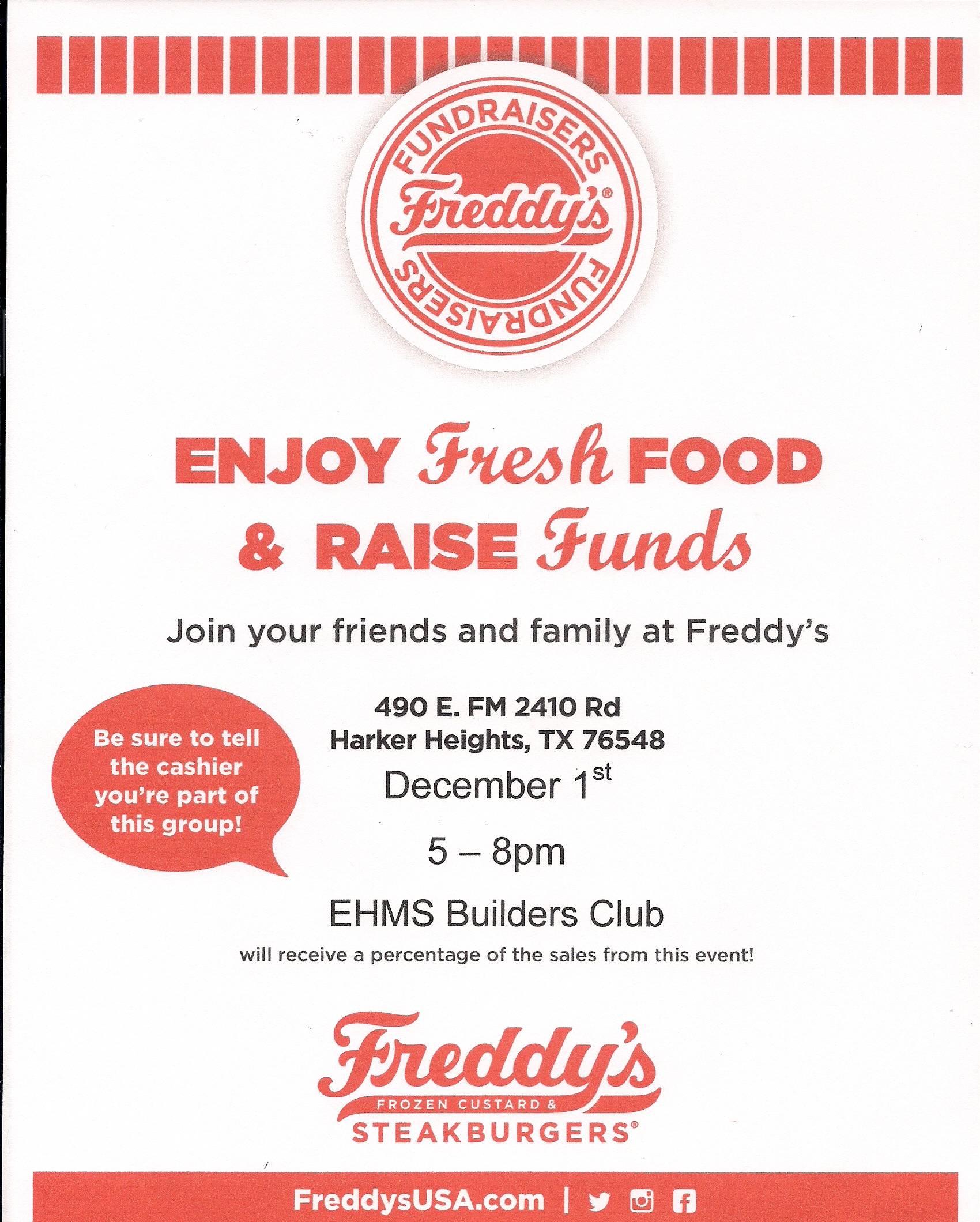 Freddy's Fundraiser