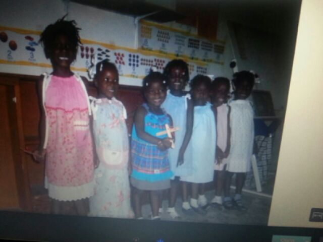 The children in their dreses