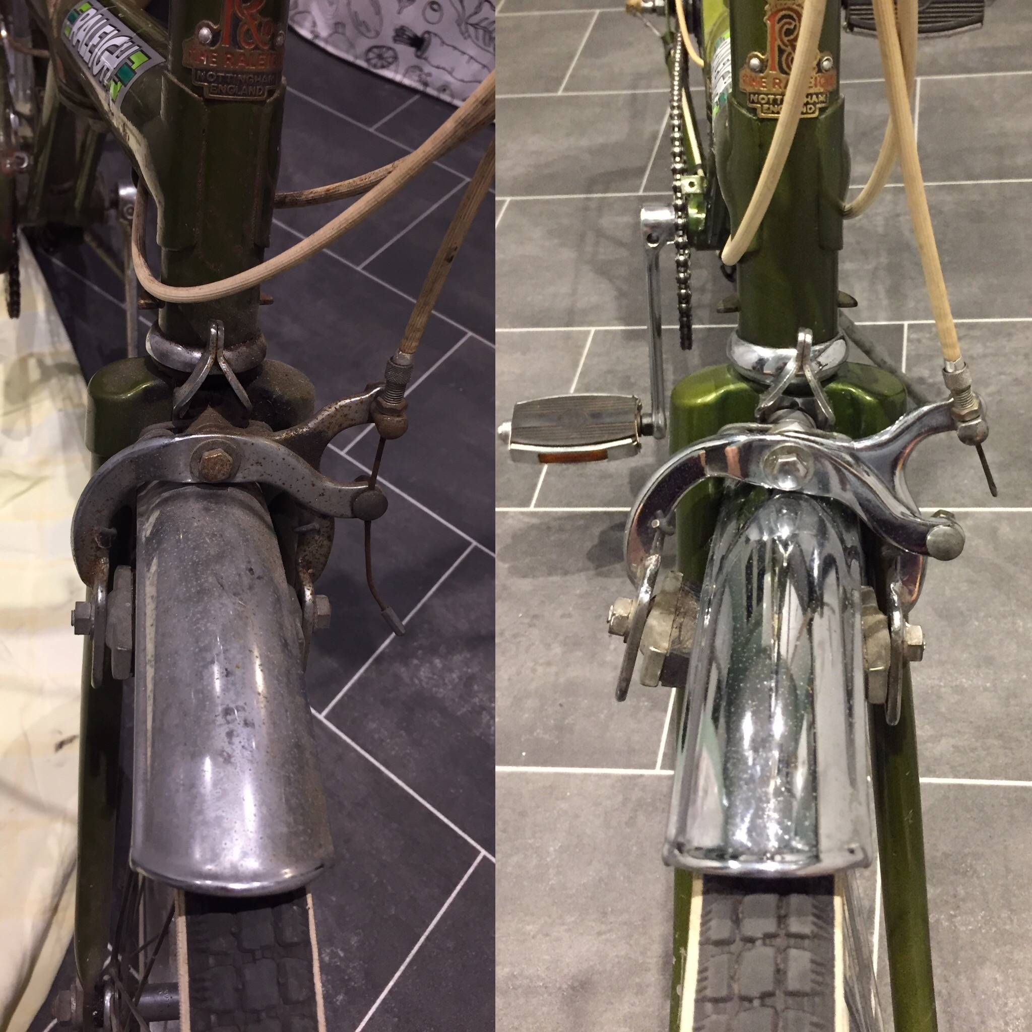 Stage 1 - Before and after front wheel