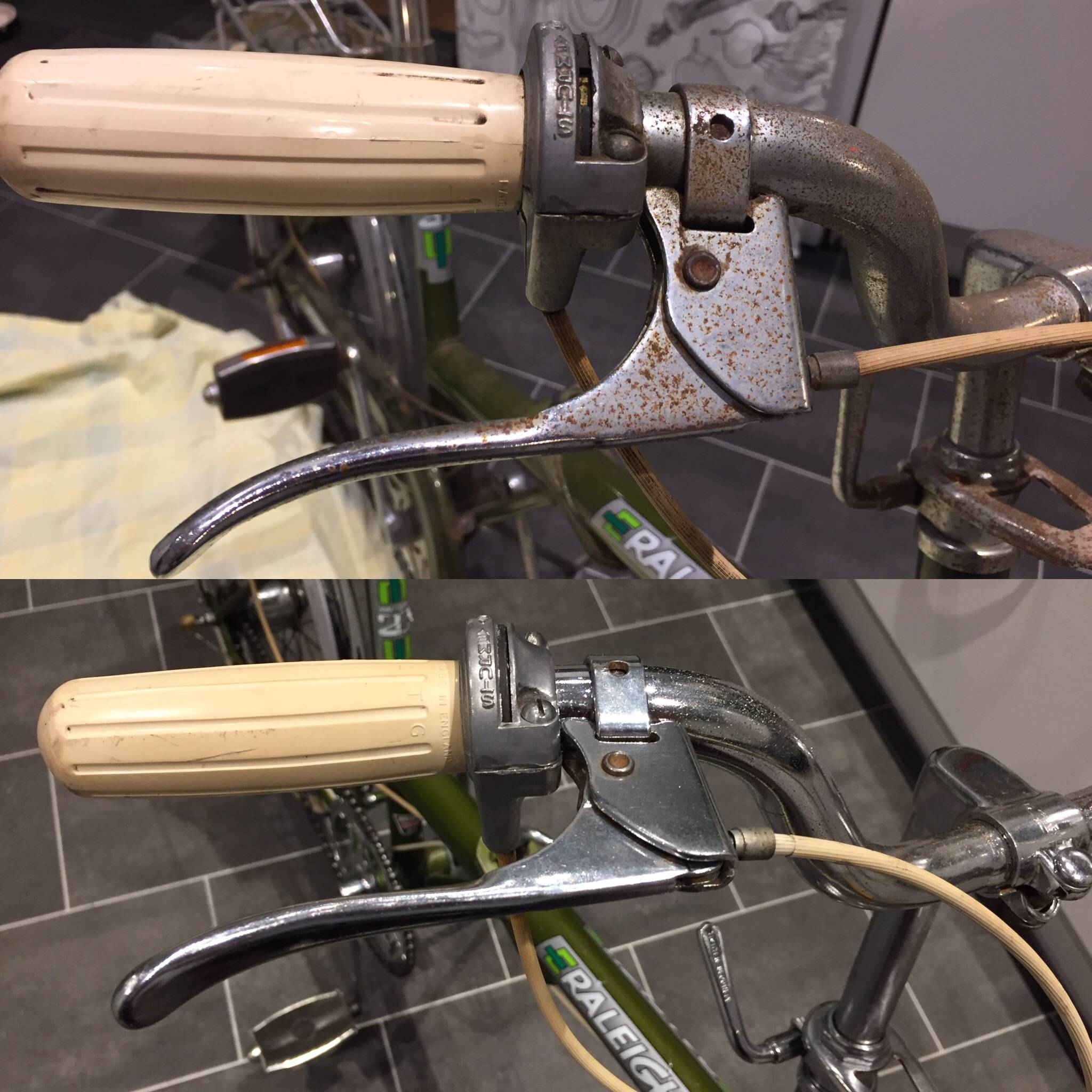 Stage 1 - Before and after shifter