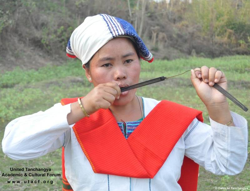 Playing Kingkrong-Traditinal Musical Instrument