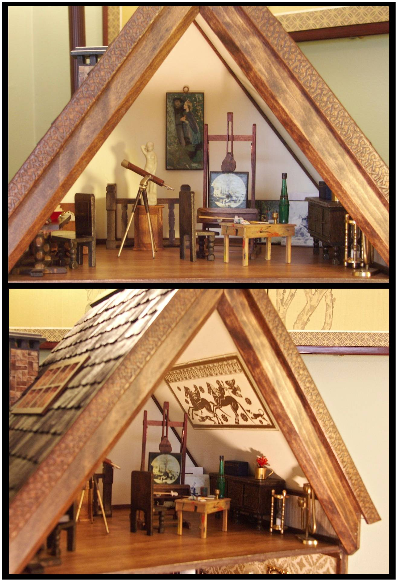 The Furniture Moves In: Attic Art Studio