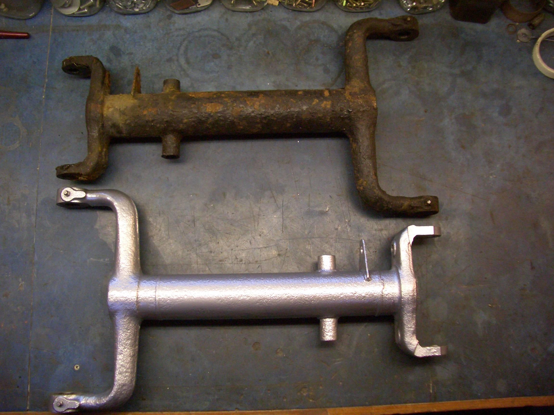 Shiny rear suspension arms