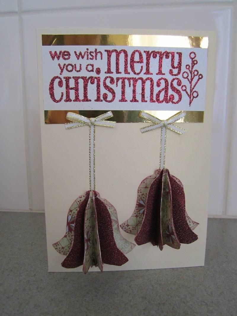 3D Bell Christmas Card