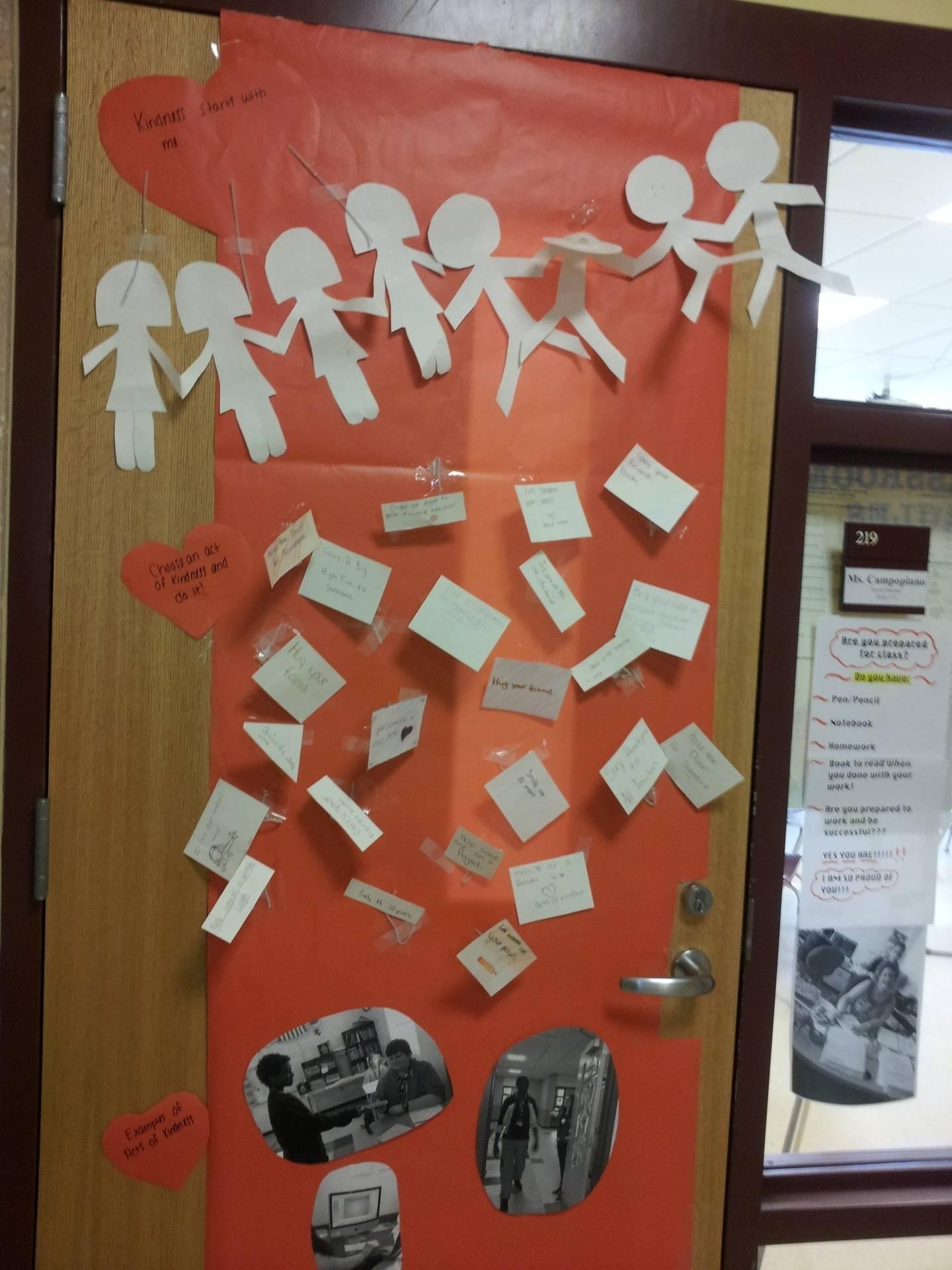 Interactive Kindness Classroom Door!