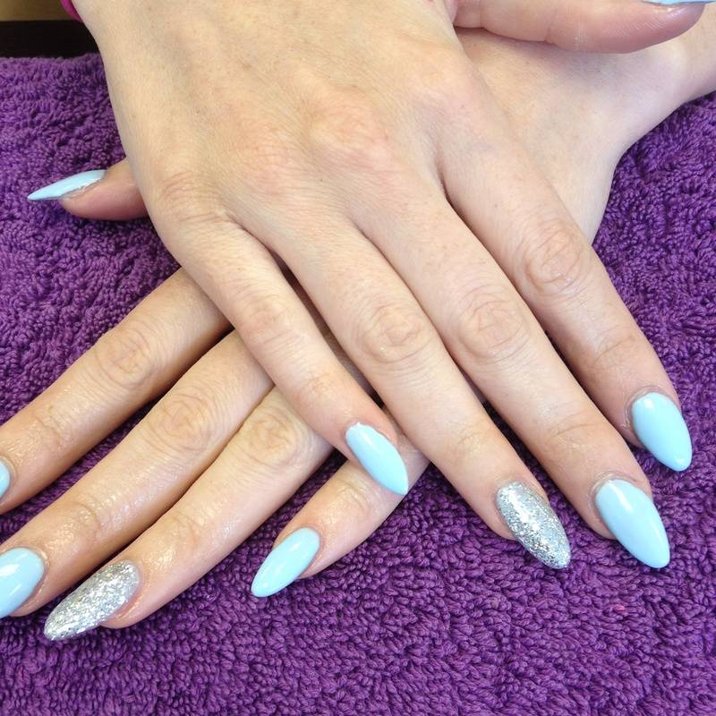 Acrylics with Gelish