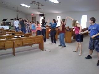 Waving for Jesus