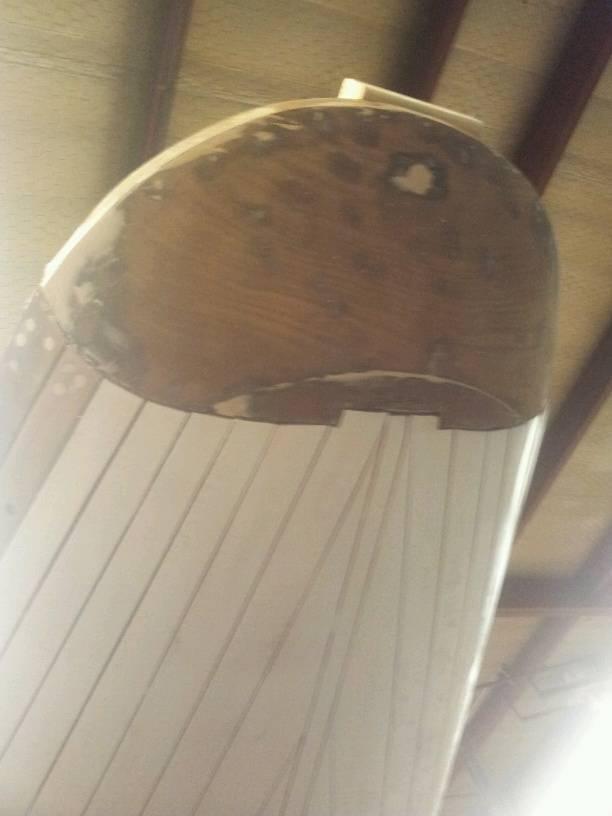 Original transom with repairs