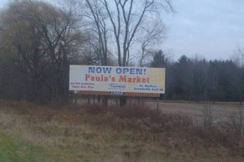 our billboard before Marne exit on I-96