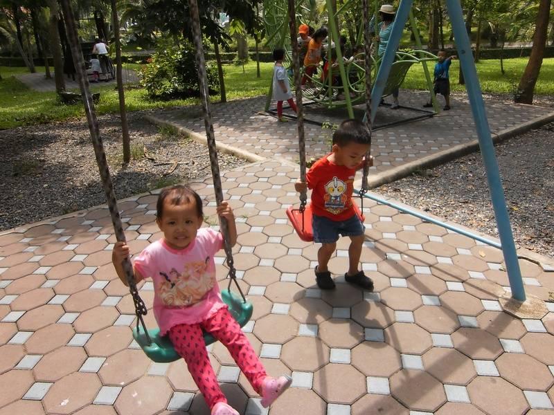 Swings in the park