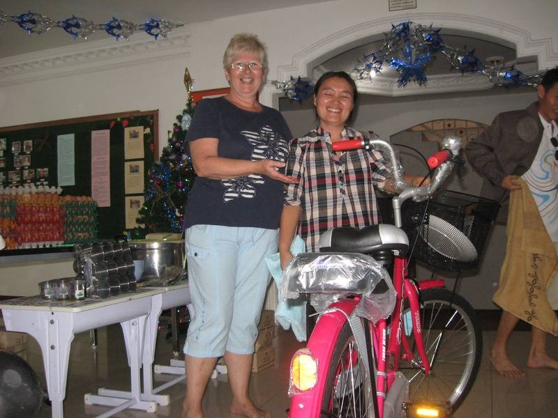 both ladies got a new bicycle