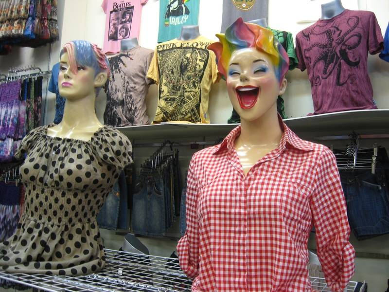 You have to like the manequins