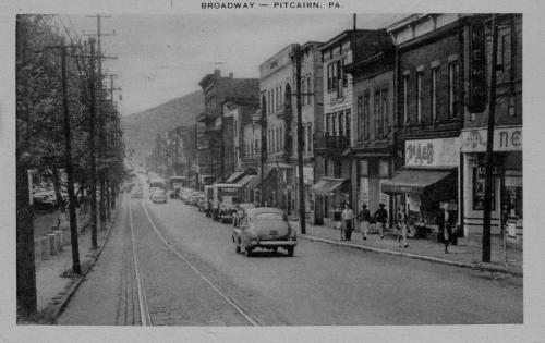 Broadway in Pitcairn in the 1940s
