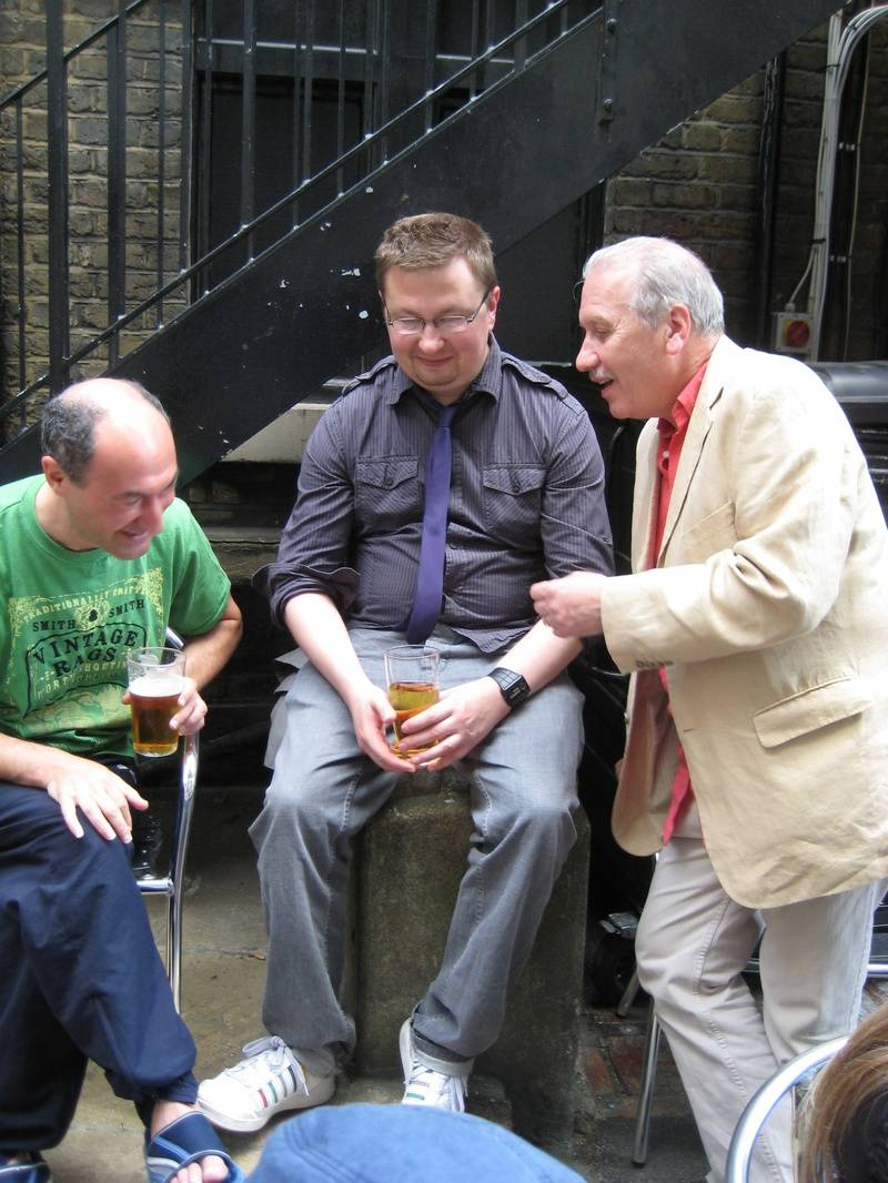 Phil Jacobs, ROb Payne and Harry Cooper after Sitcom Sunday @ FUSE