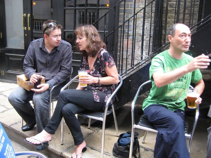 Phil Whitmore, Gillian Steventon, Phil Jacobs after Sitcom Sunday @ FUSE