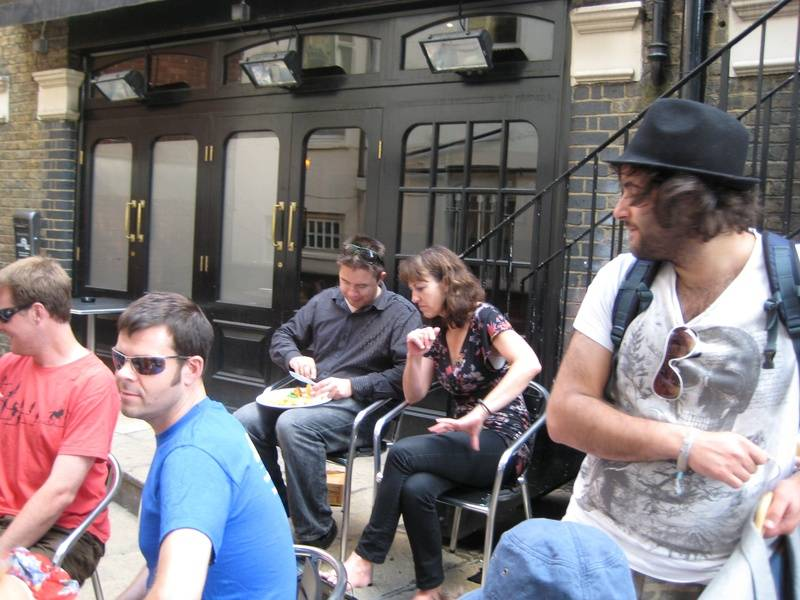 Philip Whitmore, Gillian Steventon, Mike Lash after Sitcom Sunday @ FUSE