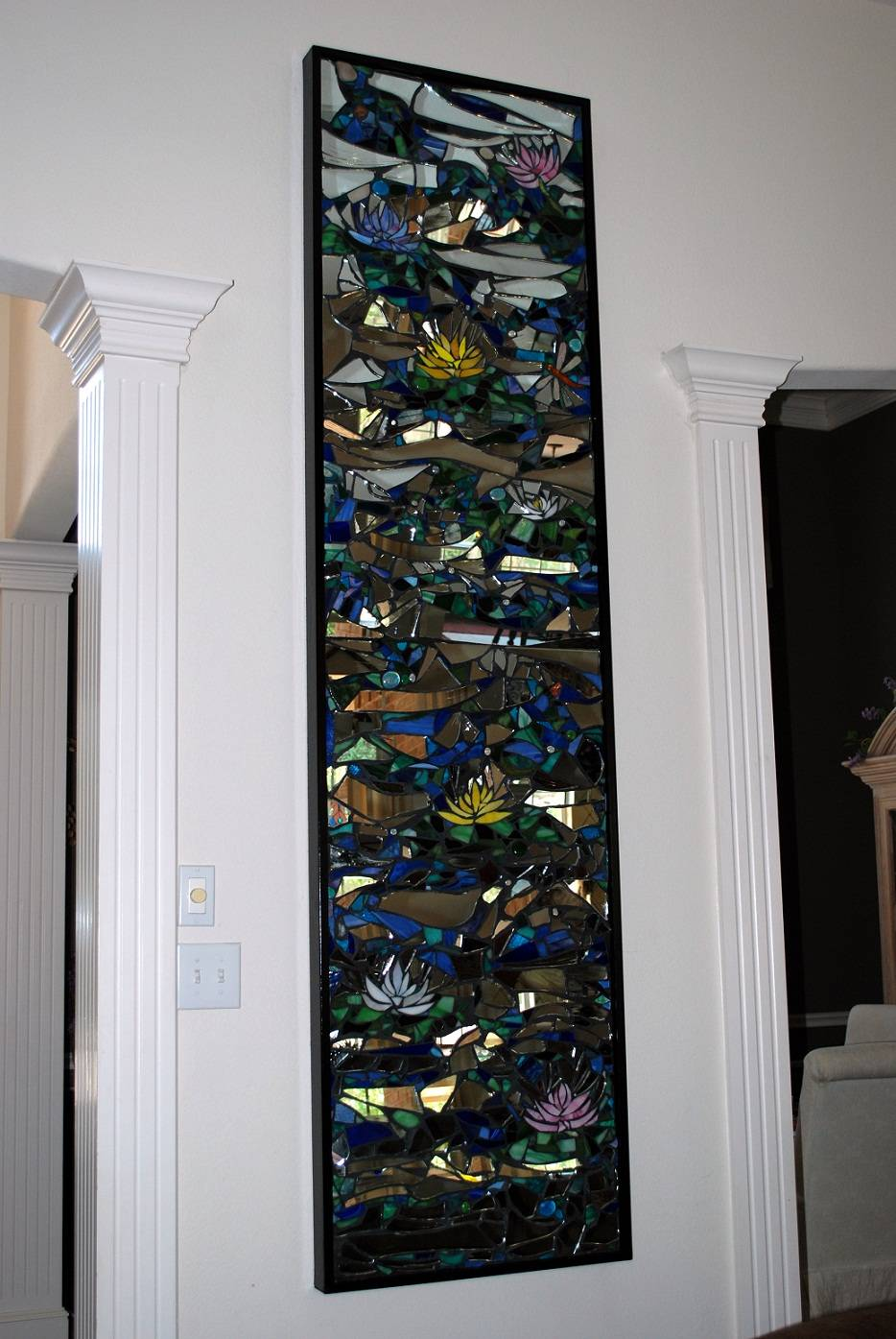 Waterlily Wall 8 foot x 2 foot
