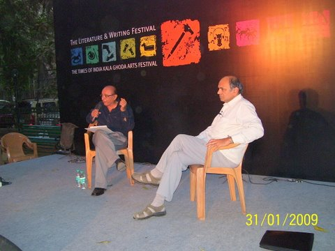 Dr GN Devy and Dr Dilip Jhaveri at Kala Ghoda Festival 2009