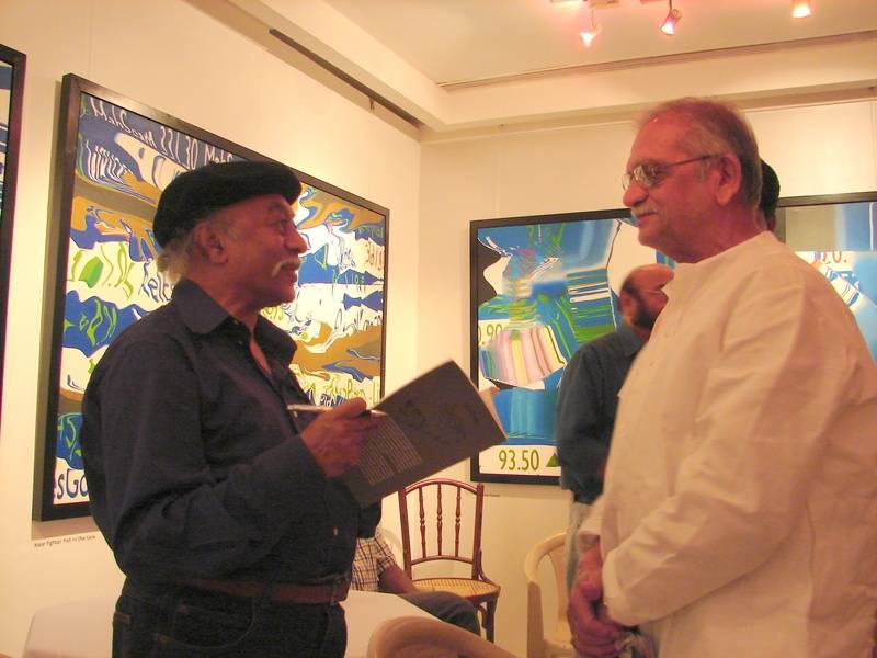 Late Dilip Chitre and Gulzar at Dilip Dada's book release funtion