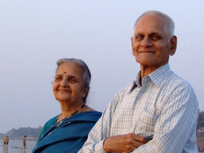 Aai and Baba at Tithal