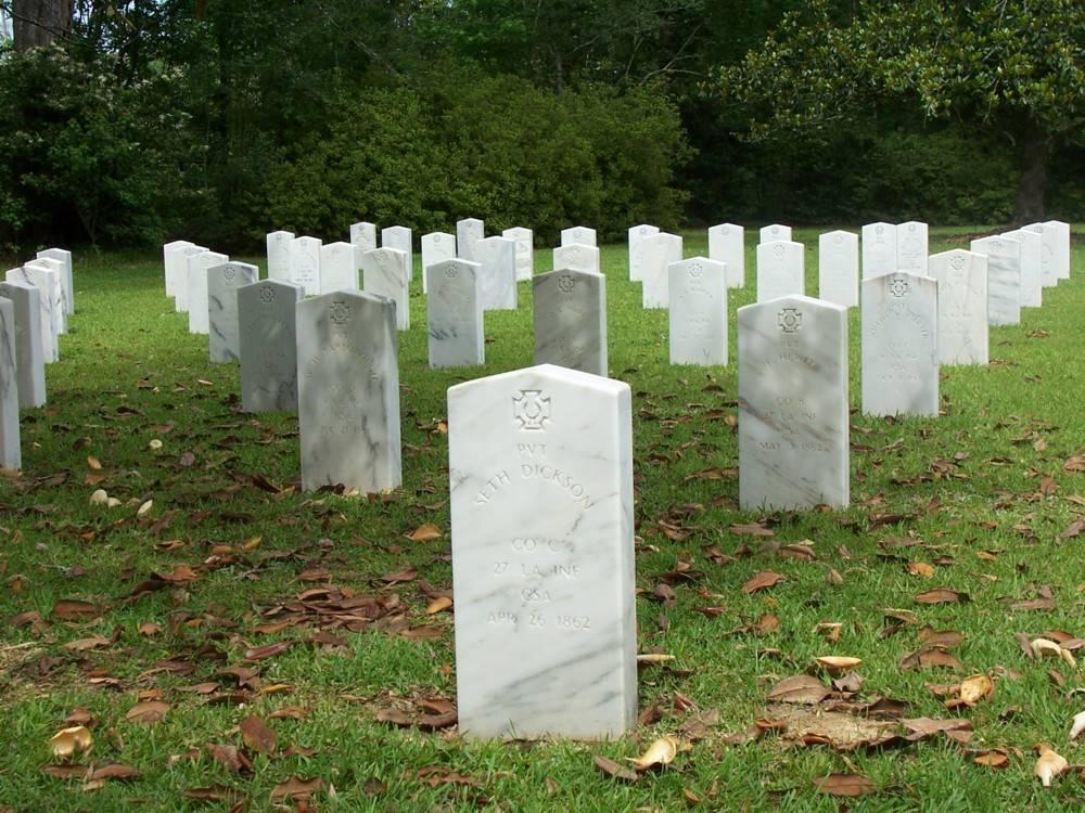 Graves at Camp Moore
