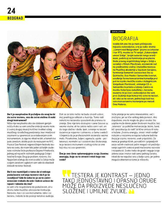 Intervju za City magazin 3