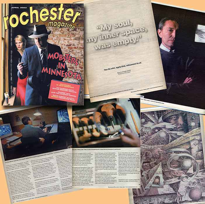 Article by Douglass McGill in Rochester Magazine, 2002.