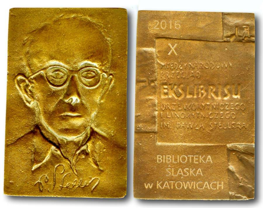 """The medal of 10th International ex libris contes """"Catovice-2016"""". Poland"""