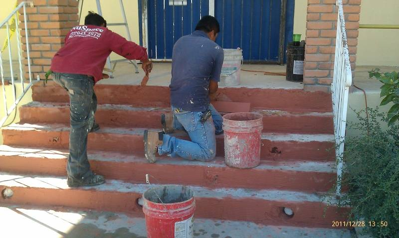 Front Stair Repair and lighting installtion