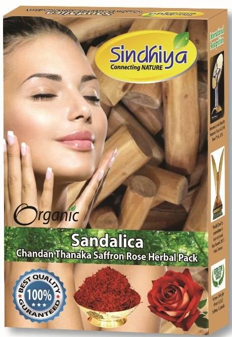 Sandalica - Chandan, Thanaka, Saffron, Rose & Herbs Pack