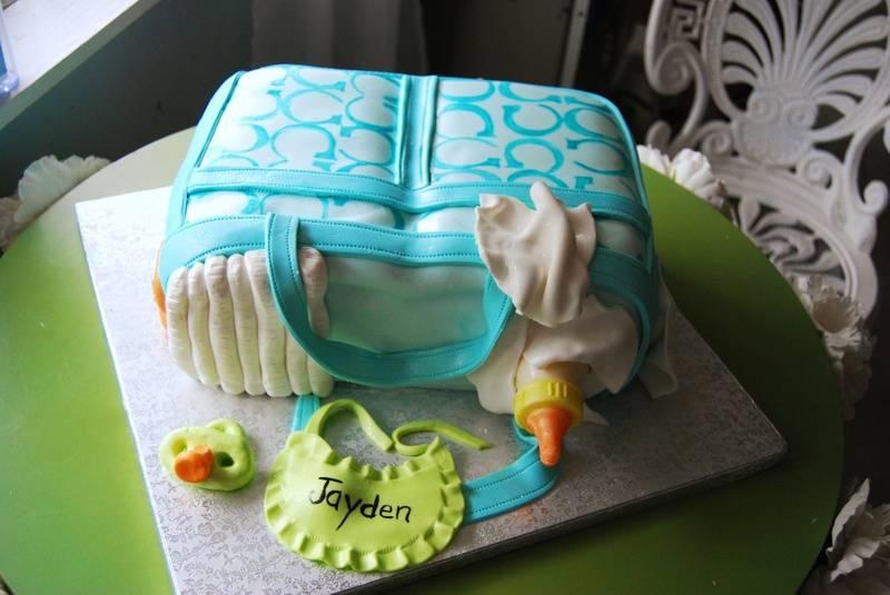 Coach Diaper bag cake