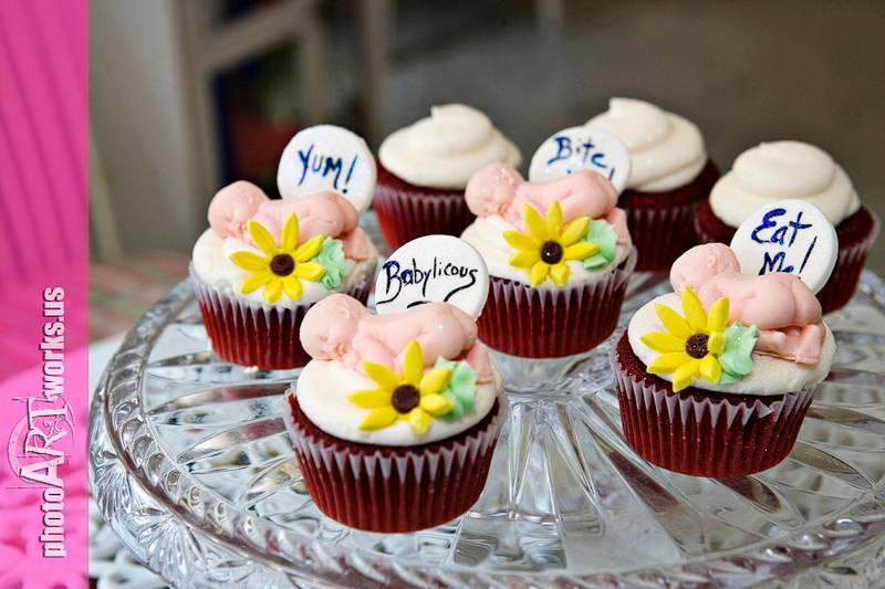 Inside JOKE baby shower cupcakes!