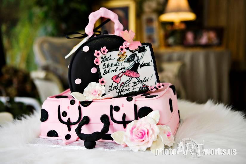 Luggage Grad Cake