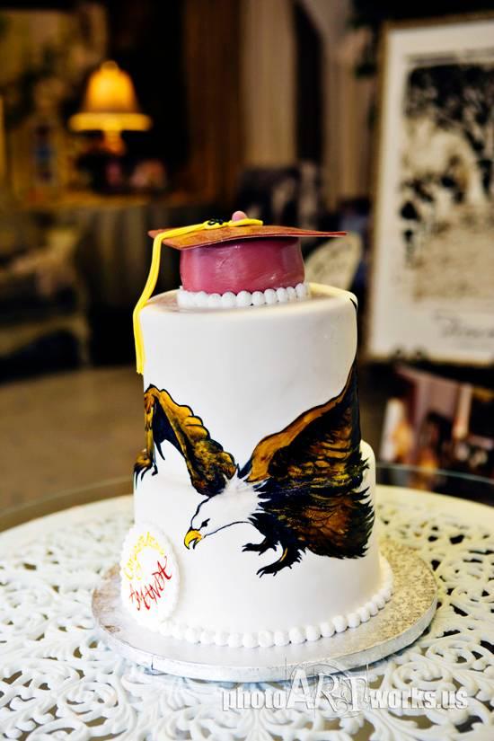 Astronaut High School War Eagle Cake