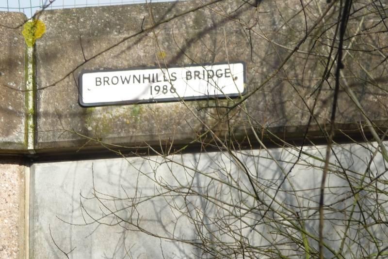 Brownhills Bridge sign